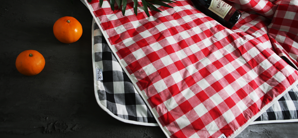 [MOILK]NEW CHECK PICNIC-MAT